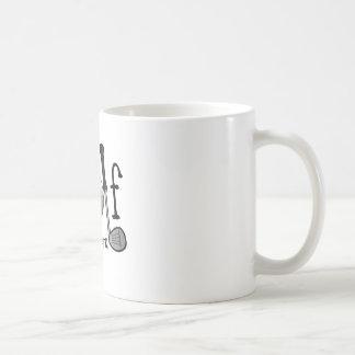Born to Golf, Forced to Work Basic White Mug