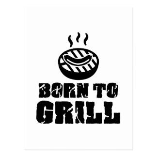 Born to grill postcard