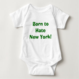 Born to Hate New York Green) Baby Bodysuit