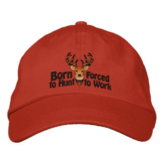 Born to Hunt White Tail Embroidery Embroidered Hat