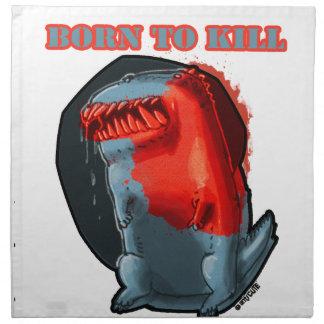born to kill_monster printed napkins