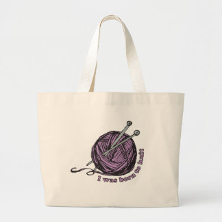 Born to Knit Tote Bag