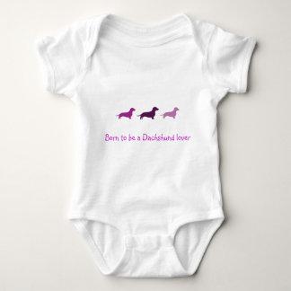 Born to love Dachshunds-Purple Baby Bodysuit