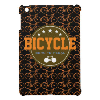 born to pedal bike-themed iPad mini case