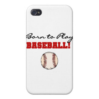 Born to Play Baseball T-shirts and Gifts iPhone 4 Cover