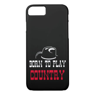 Born to play country iPhone 8/7 case