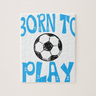 born to play football jigsaw puzzle