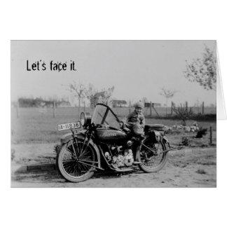 Born To Ride Vintage Motorcycle Birthday Card