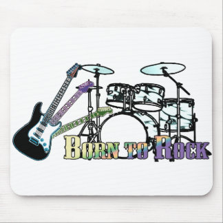 Born to Rock Drums and Guitar Mouse Pad