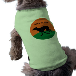 Born to Run- Italian Greyhound design Pet Tshirt