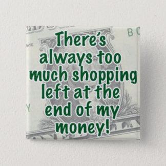 Born to Shop 2 Inch Square Button