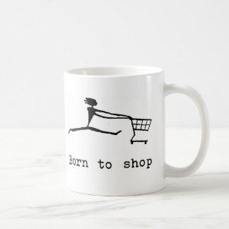 Born to shop coffee mug