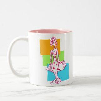 BoRn To ShoP , sHoP and SHOP Two-Tone Coffee Mug