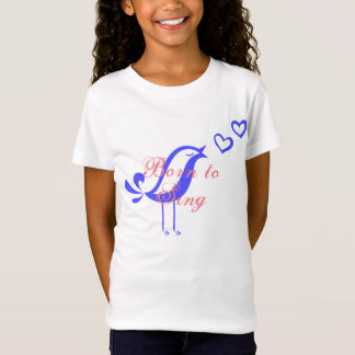 Born to sing bella fitted babydoll t-shirt