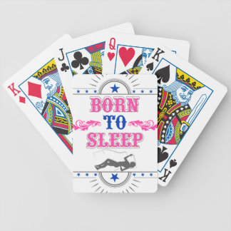 Born to Sleep Bicycle Playing Cards