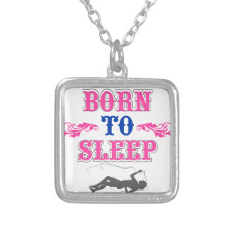 Born to Sleep Silver Plated Necklace