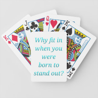 Born to stand out bicycle playing cards