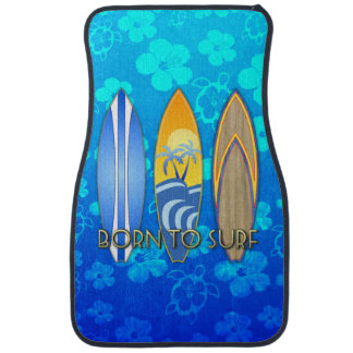 Born To Surf Blue Honu Car Mat
