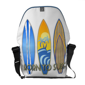 Born To Surf Courier Bags