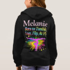 BORN TO TUMBLE PERSONALIZED GYMNAST HOODIE