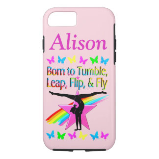 BORN TO TUMBLE PERSONALIZED GYMNAST IPHONE CASE