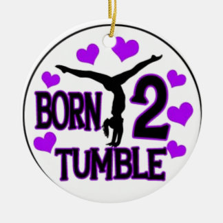born tumble ceramic ornament