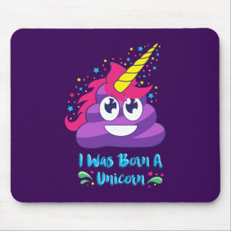 Born Unicorn Emoji Poop Mouse Pad