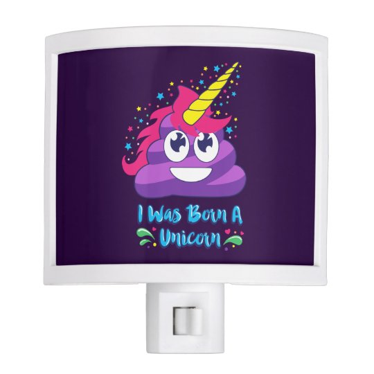 Born Unicorn Emoji Poop Night Light