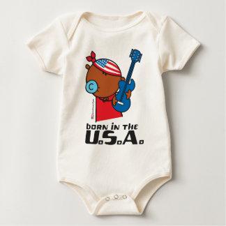 BORN USA-2 BABY BODYSUIT