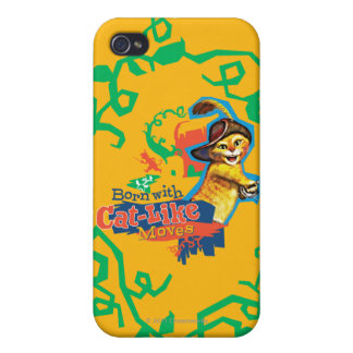 Born With Cat-Like Moves iPhone 4 Covers