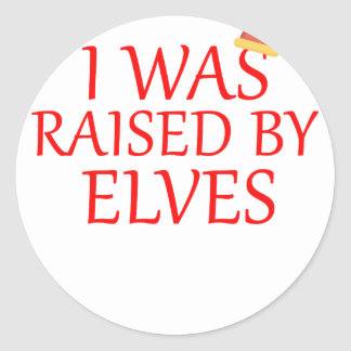 born with elves, gift elf, christmas, fairy shirt classic round sticker