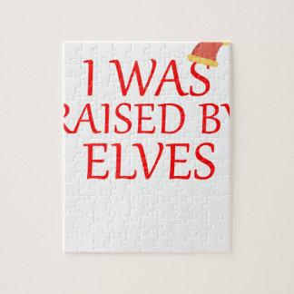born with elves, gift elf, christmas, fairy shirt jigsaw puzzle