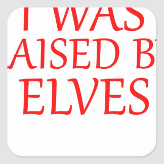 born with elves, gift elf, christmas, fairy shirt square sticker