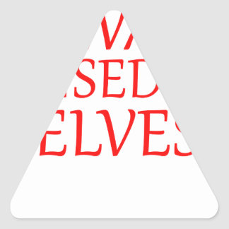 born with elves, gift elf, christmas, fairy shirt triangle sticker