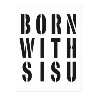 Born With Sisu Postcard