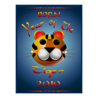 Born Year Of The Tiger Print