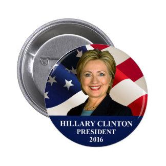 """Borne 2"""" de président 2016 bouton de Hillary Macaron Rond 5 Cm"""