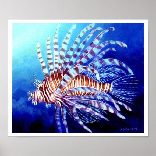 Borneo Lion Fish Art Poster