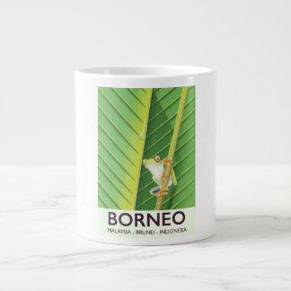 Borneo Poison frog travel poster Large Coffee Mug