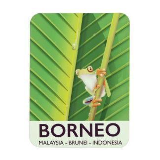 Borneo Poison frog travel poster Magnet