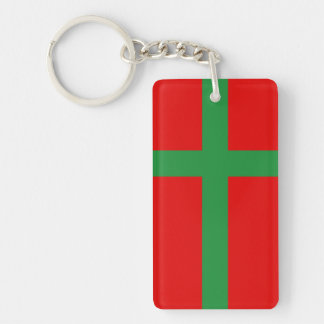 Bornholm Denmark flag region province symbol Keychain
