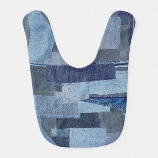 Boro Boro Blue Jean Patchwork Denim Shibori Bib