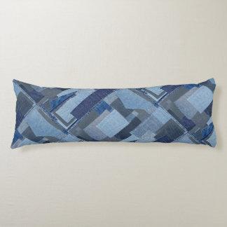 Boro Boro Blue Jean Patchwork Denim Shibori Body Pillow