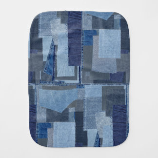 Boro Boro Blue Jean Patchwork Denim Shibori Burp Cloth