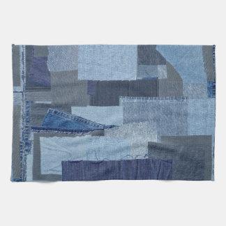 Boro Boro Blue Jean Patchwork Denim Shibori Kitchen Towel