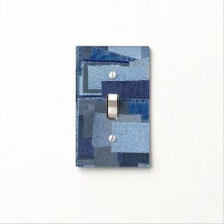 Boro Boro Blue Jean Patchwork Denim Shibori Light Switch Cover
