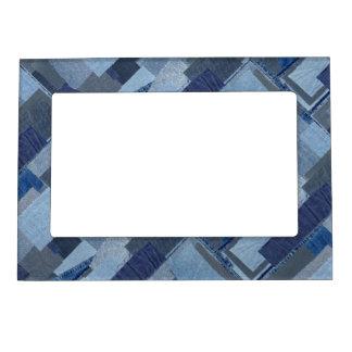 Boro Boro Blue Jean Patchwork Denim Shibori Magnetic Picture Frame