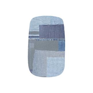 Boro Boro Blue Jean Patchwork Denim Shibori Minx Nail Art