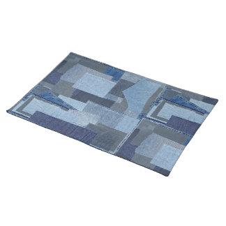 Boro Boro Blue Jean Patchwork Denim Shibori Placemat