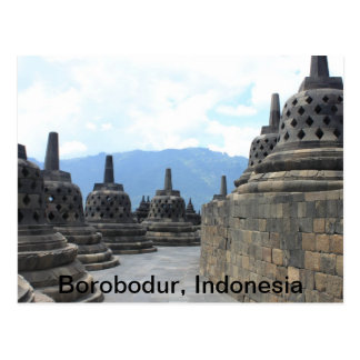 Borobodur Budhist Temple , Indonesia Postcard